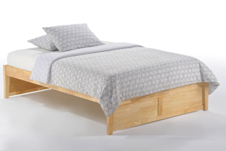 the k series basic bed frame in natural finish